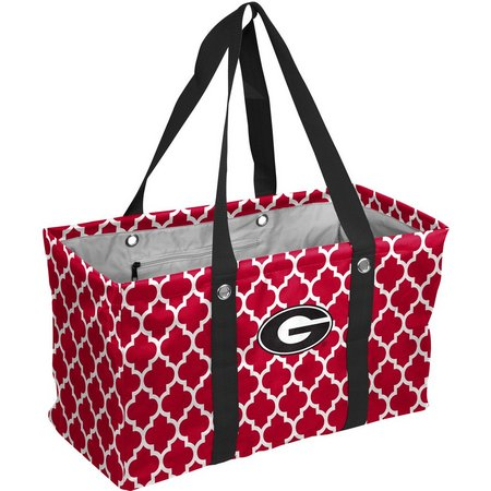 Georgia Bulldogs Quatrefoil Picnic Caddy Tote