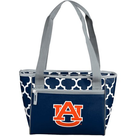 Auburn Quatrefoil 16 Can Cooler by Logo Brands