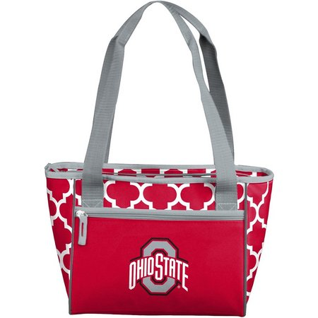 Ohio State Quatrefoil 16 Can Cooler by Logo