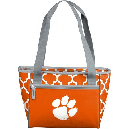 Clemson Quatrefoil 16 Can Cooler by Logo Brands