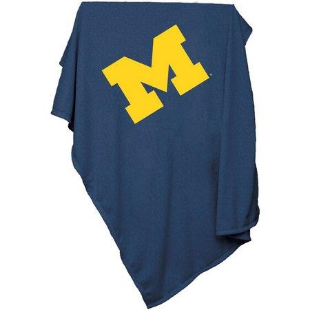 Michigan Sweatshirt Blanket by Logo Brands
