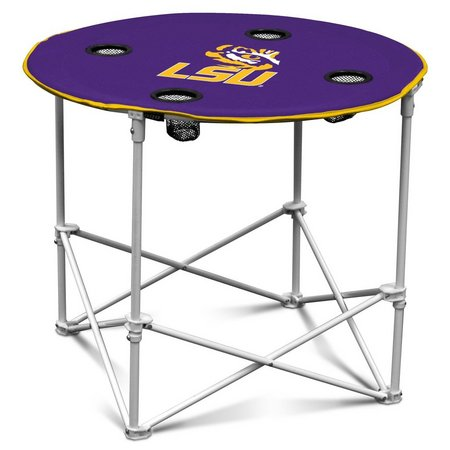 LSU Tigers Portable Round Table by Logo Brands