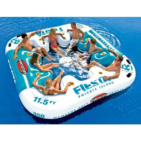Sportsstuff Fiesta Island Inflatable Lounge Float