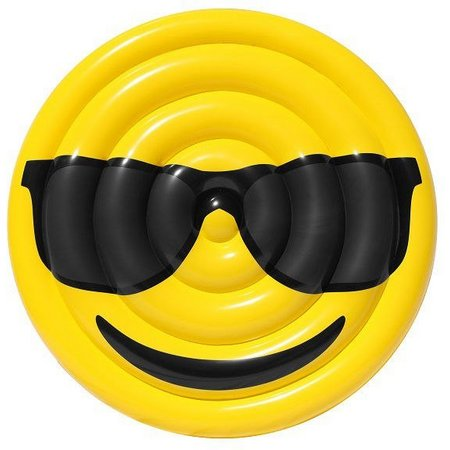Sportsstuff Cool Guy Nerd Emoji Pool Float