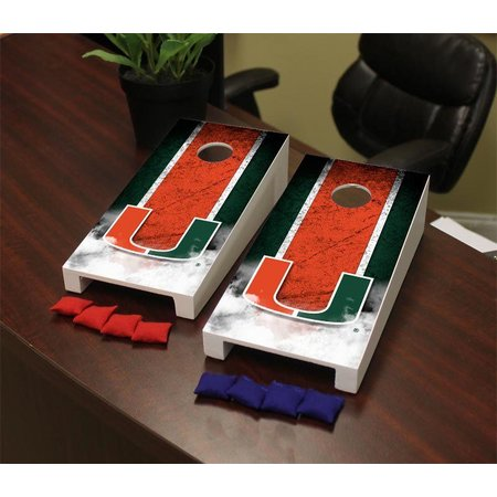 Miami Hurricanes Mini Cornhole Game Set