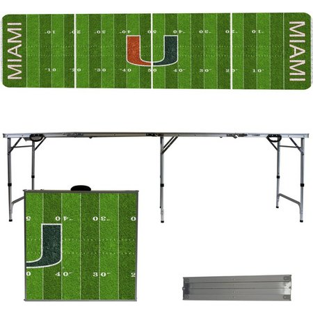 Miami Hurricanes Football Field Folding Table