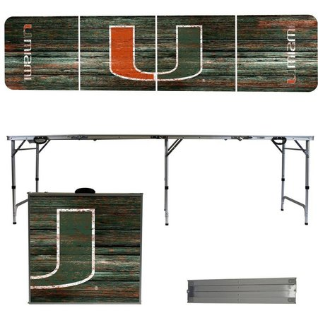 Miami Hurricanes Weathered Folding Tailgate Table