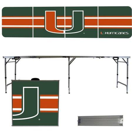 Miami Hurricanes Team Stripe Folding Table
