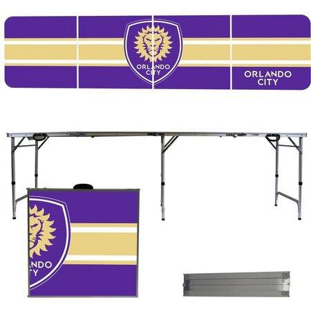 Orlando City Team Stripe Folding Tailgate Table
