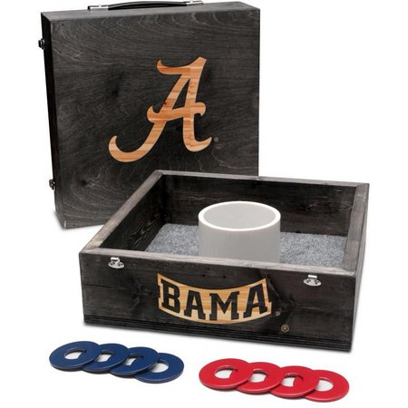 Alabama Onyx Stained Washer Toss Game Set