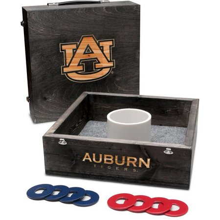 Auburn Onyx Stained Washer Toss Game Set