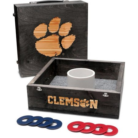 Clemson Onyx Stained Washer Toss Game Set