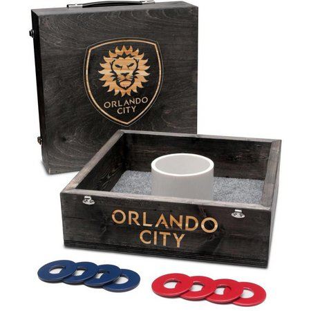 Orlando City Onyx Stained Washer Toss Game Set