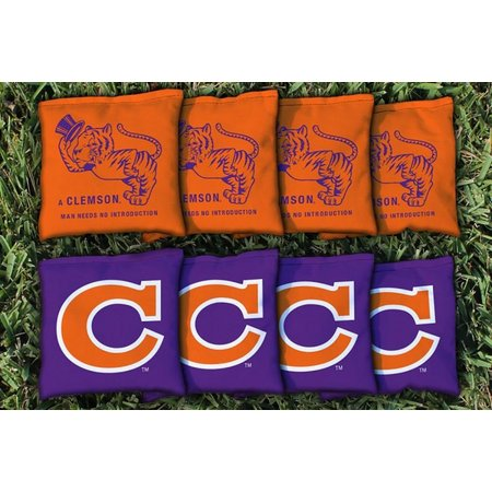 Clemson Vault 8-pc. All Weather Cornhole Bag Set