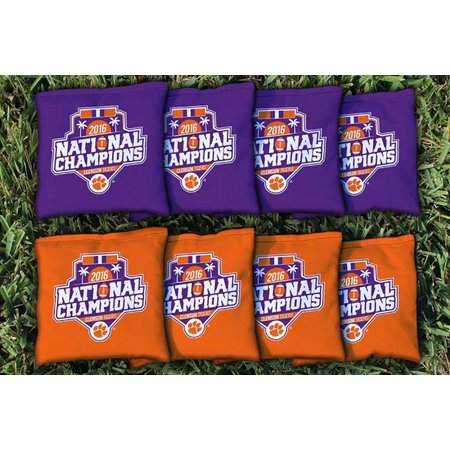 Clemson 2016 Champions 8-pc. Corn Filled Bag Set