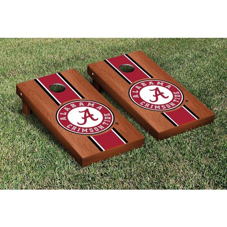 Alabama Rosewood Stripe Cornhole Game Set
