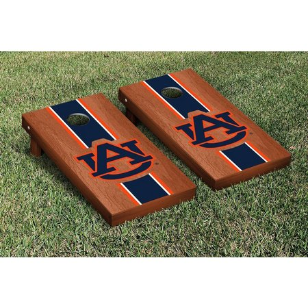 Auburn Rosewood Stripe Cornhole Game Set