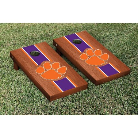 Clemson Rosewood Stripe Cornhole Game Set