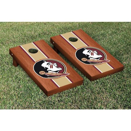 Florida State Rosewood Stripe Cornhole Game Set