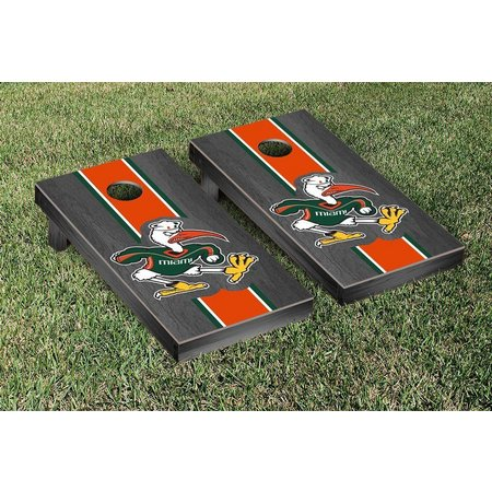 Miami Hurricanes Onyx Stained Cornhole Game Set