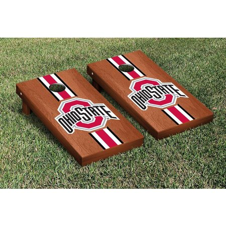 Ohio State Rosewood Stripe Cornhole Game Set