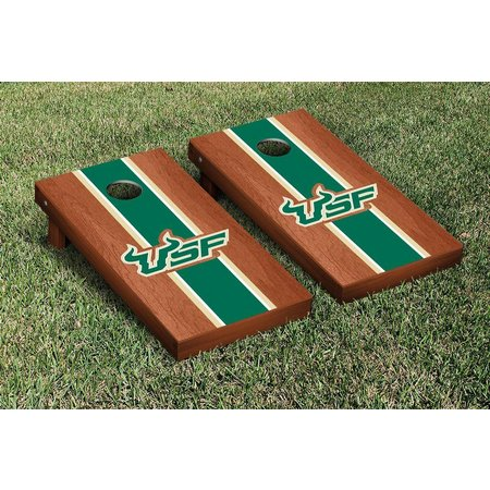 USF Bulls Rosewood Stained Cornhole Game Set