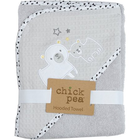Chick Pea Baby Unisex Bear Hooded Towel