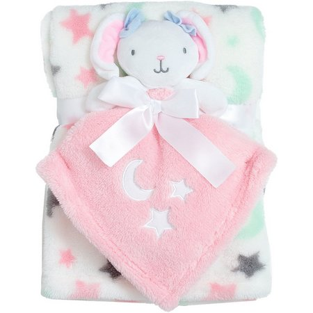 Baby Gear Baby Girls 2-pc. Bunny Blanket Set