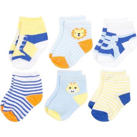 Baby Essentials Boys 6-pk. Zoo Sock Set