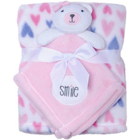 Baby Gear Baby Girls 2-pc. Bear Heart Blanket