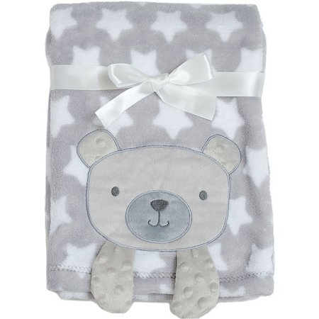 Baby Gear Baby Boys Bear Crinkle Blanket