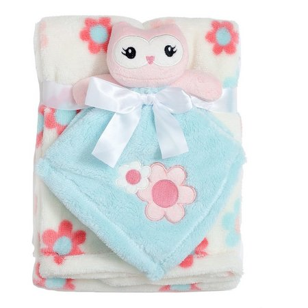 Baby Gear Baby Girls 2-pc. Owl Blanket Set