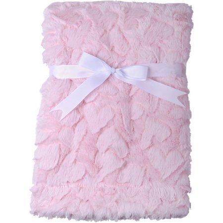 Baby Gear Baby Girls Plush Hearts Blanket