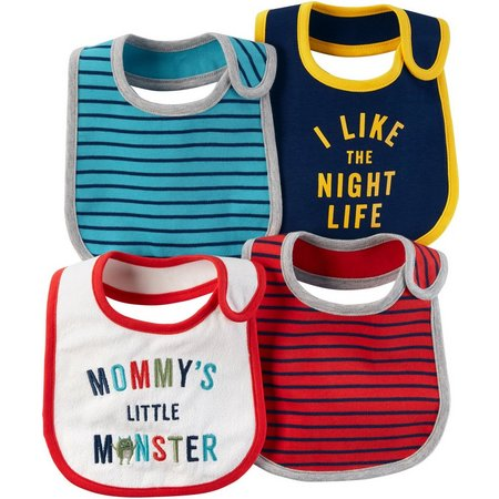Carters Baby Boys 4-pk. Little Monster Bibs