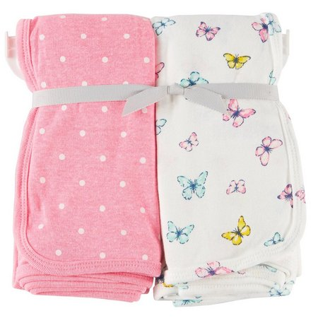 Carters Baby Girls 2-pk. Sweet Heart Blanket Set