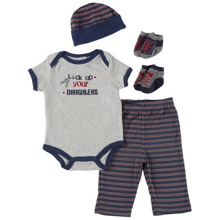 Baby Essentials Baby Boys 5-pc. Lock Up Layette