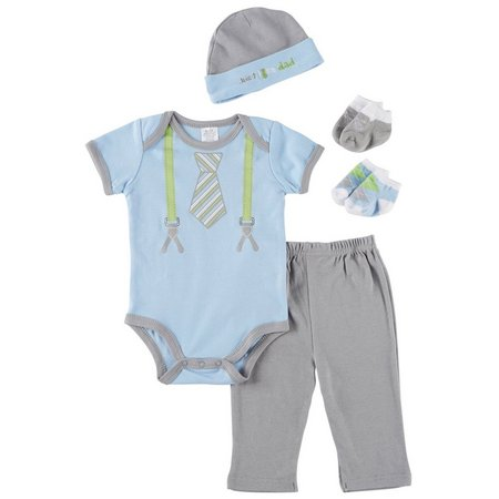 Baby Essentials Baby Boys 5-pc. Like Dad Layette