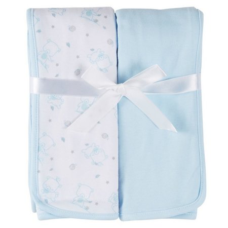 Mary Jane & Buster 2-pk. Bear Swaddle Blankets