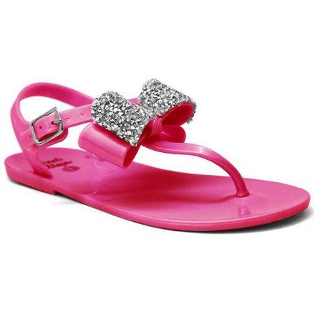 Laura Ashley Baby Girls Glitter Bow Sandals