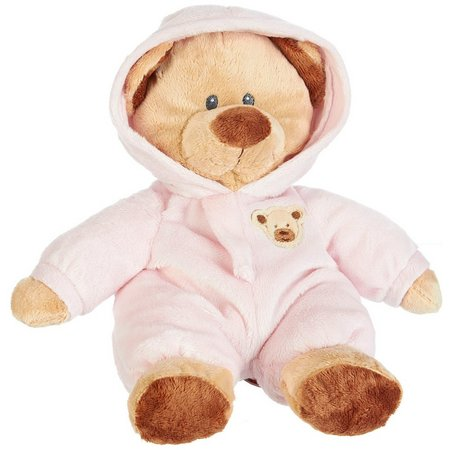 TY Pluffies Pink Baby PJ Bear