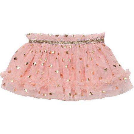 Baby Starters Baby Girls Foil Hearts Tutu Skirt