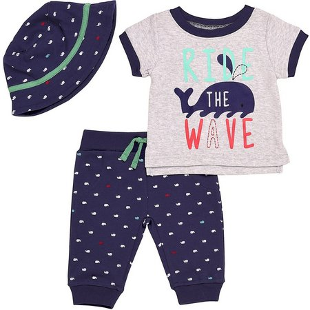 Baby Starters Baby Boys 3-pc. Wave Layette Set