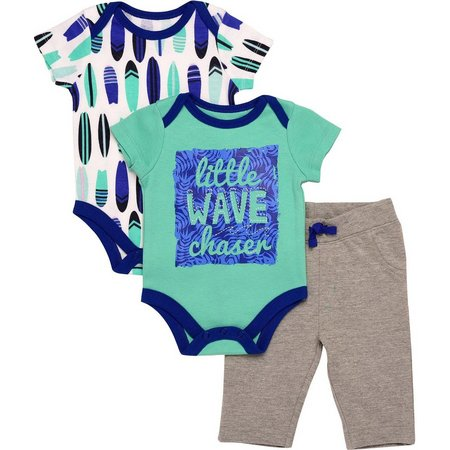 Baby Starters Baby Boys 3-pc. Waves Layette Set