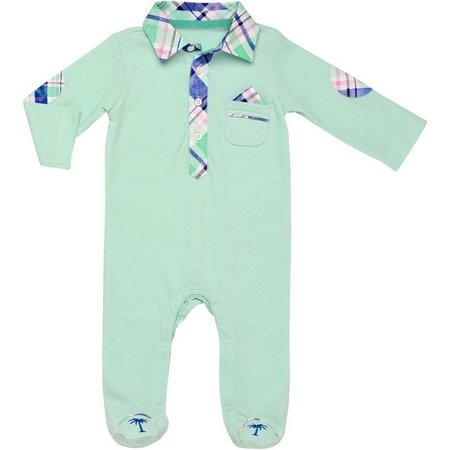 Baby Starters Baby Boys Palm Tree Jumpsuit