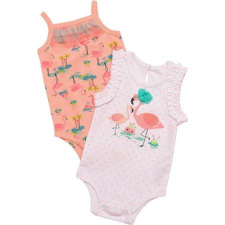 Baby Starters Baby Girls 2-pk. Flamingos Bodysuits