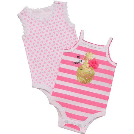 Baby Starters Baby Girls 2-pk. Pineapple Bodysuits