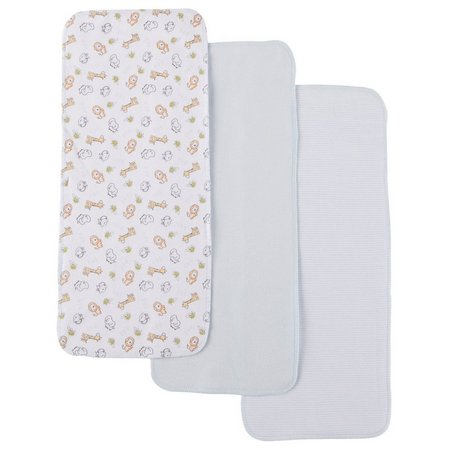 Quiltex Baby Boys 3-pk. Animals Burp Cloths