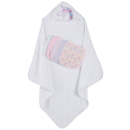 Baby Lounge Baby Girls 6-pc. Unicorn Towel Bath