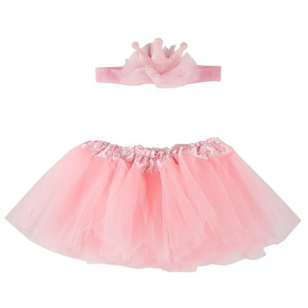 ABG Baby Girls Tiara and Tutu Skirt Set