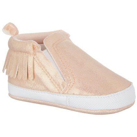 Rising Star Baby Girls Shimmer Fringe Shoes